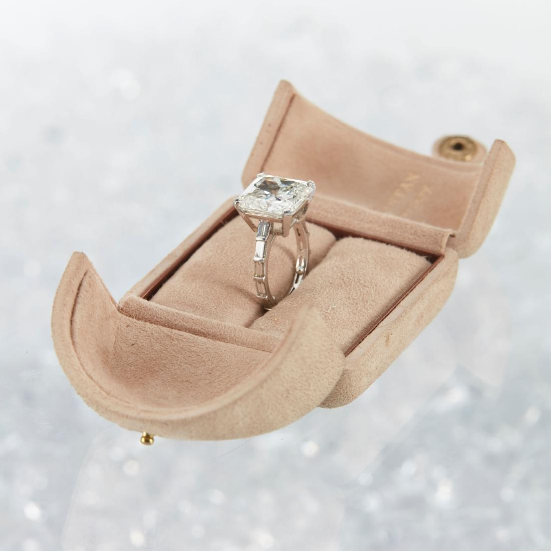 An 11-Carat Platinum Diamond Ring - 2