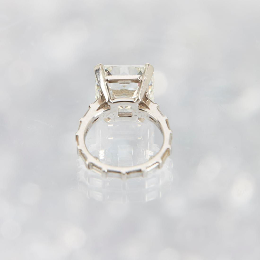 An 11-Carat Platinum Diamond Ring - 5