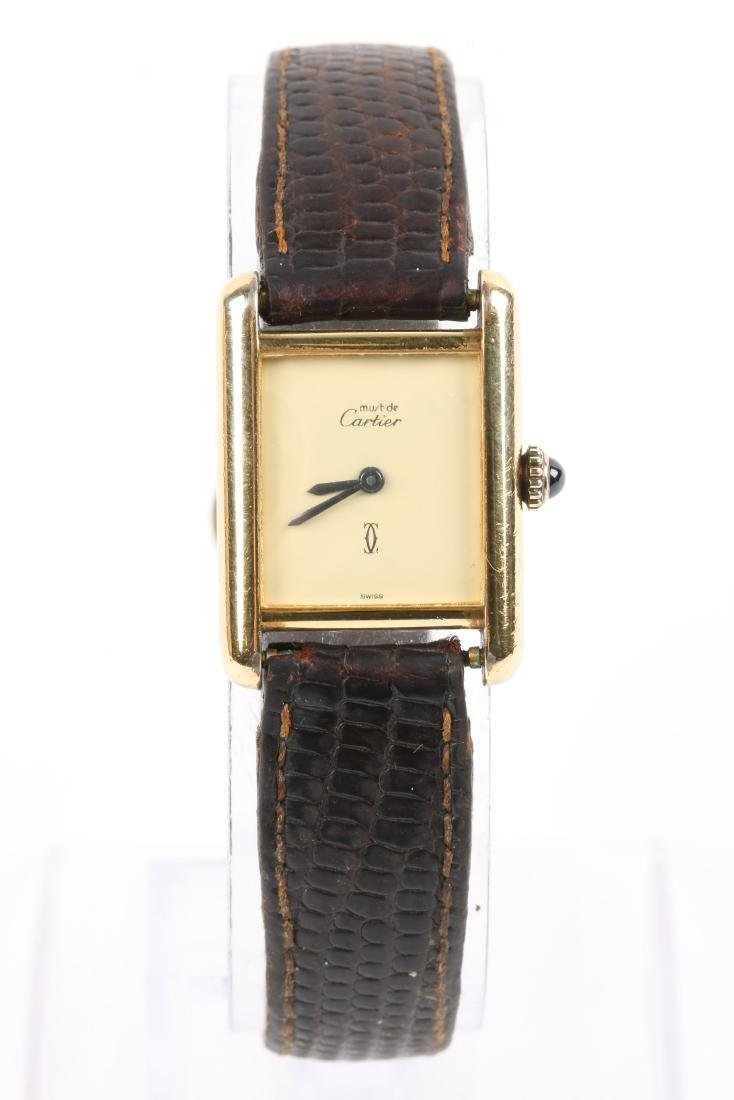 """Cartier, Vermeil """"Tank"""" Wristwatch - 2"""