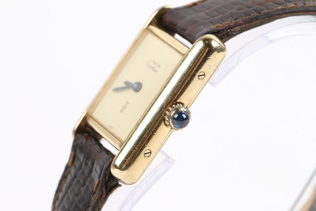 """Cartier, Vermeil """"Tank"""" Wristwatch - 4"""