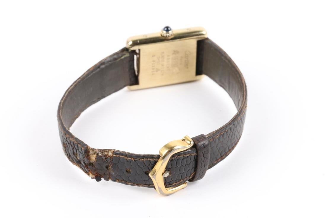 """Cartier, Vermeil """"Tank"""" Wristwatch - 5"""