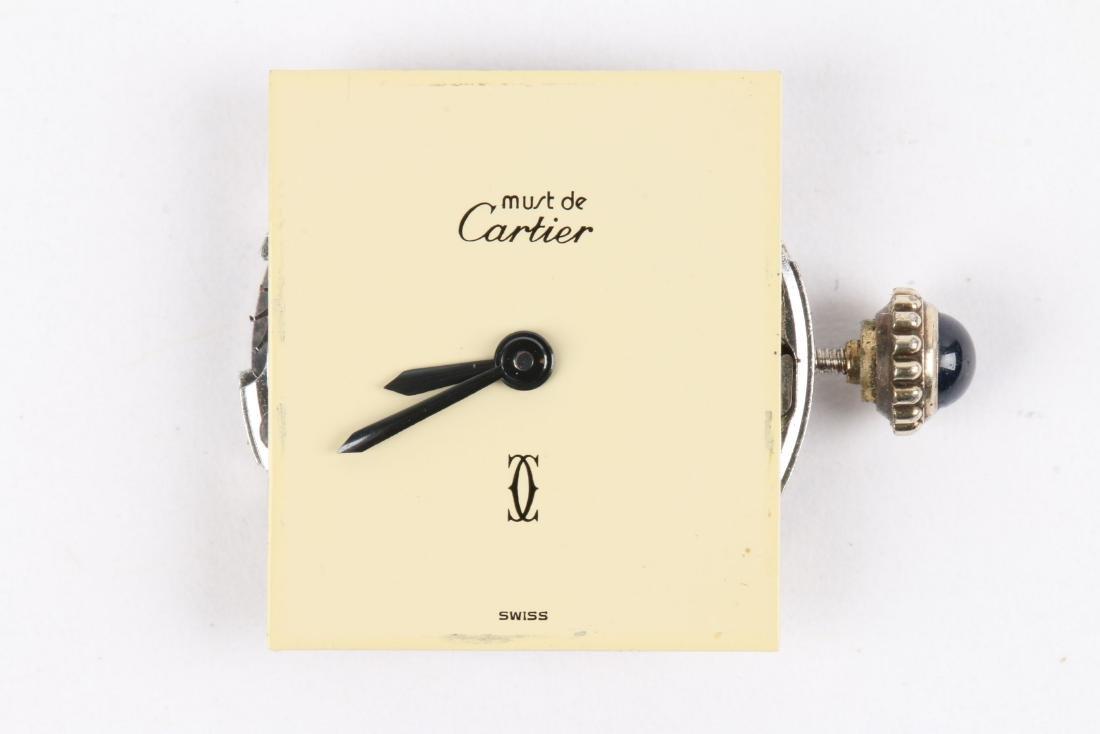 """Cartier, Vermeil """"Tank"""" Wristwatch - 8"""