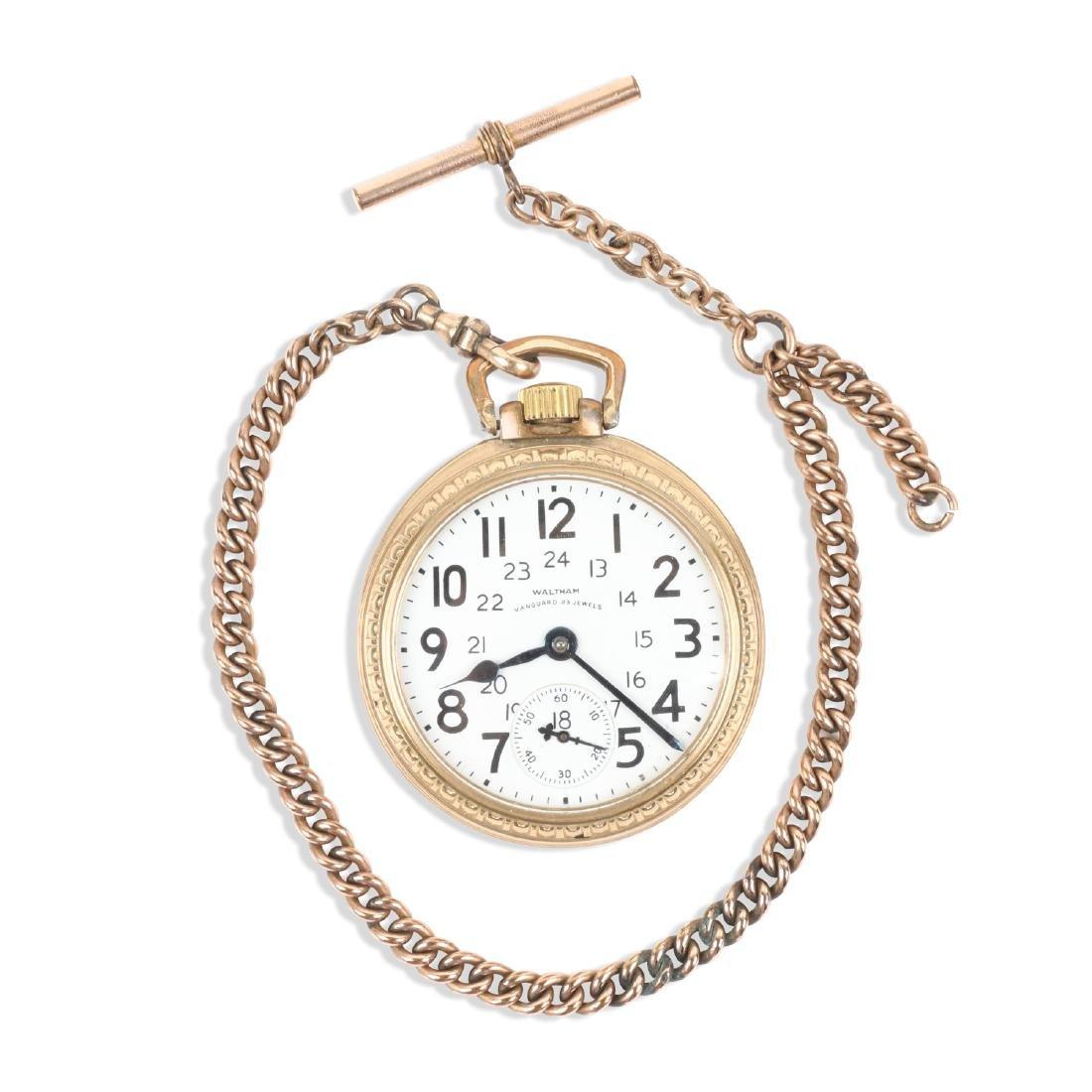 "Waltham, ""Vanguard"" Railroad Pocket Watch"