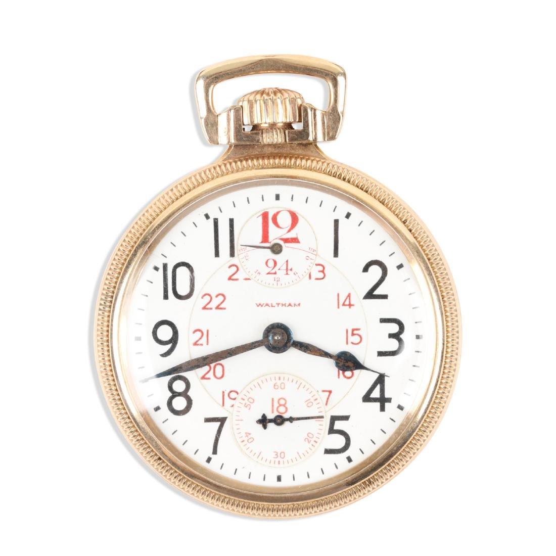 "Waltham, Vanguard ""Wind Indicator"" Pocket Watch"