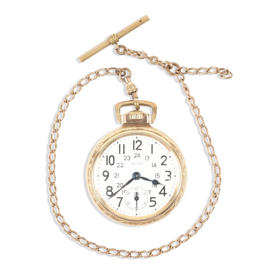 "Waltham, ""Crescent St."" Railroad Pocket Watch"