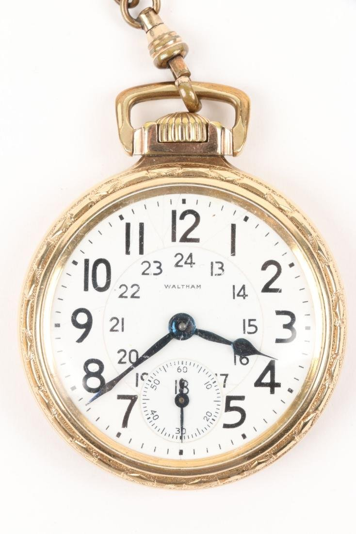 "Waltham, ""Crescent St."" Railroad Pocket Watch - 2"