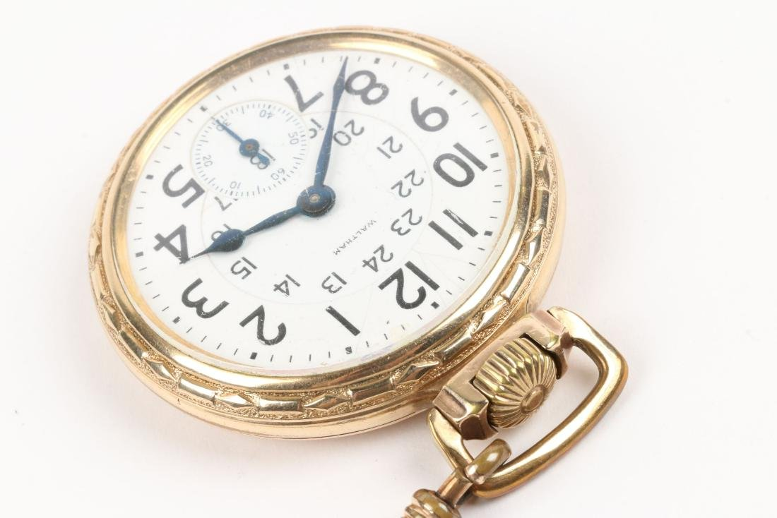 "Waltham, ""Crescent St."" Railroad Pocket Watch - 3"