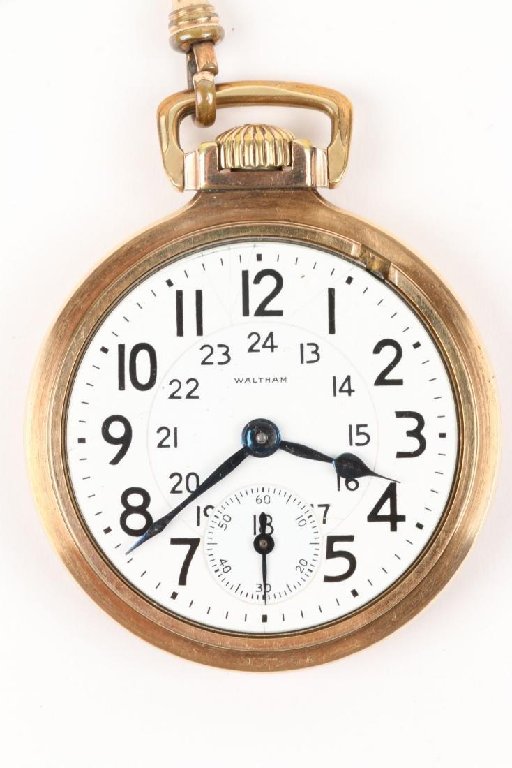 "Waltham, ""Crescent St."" Railroad Pocket Watch - 5"