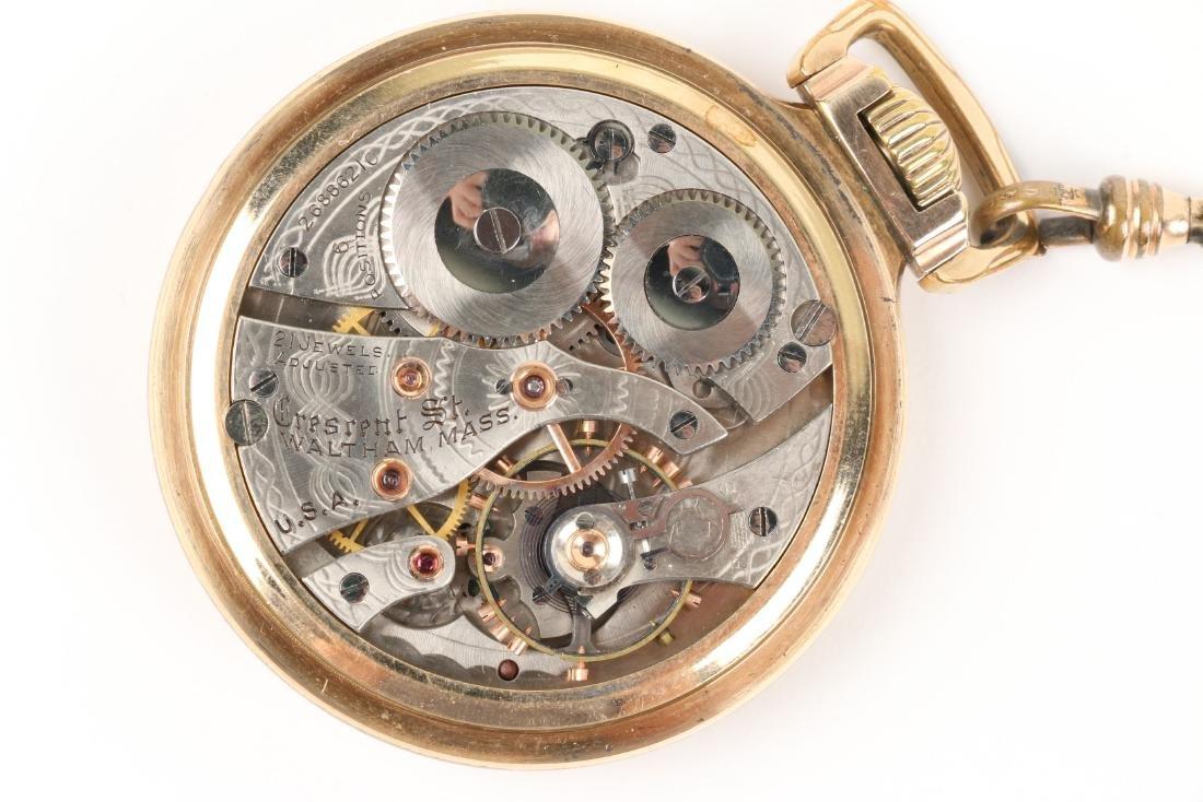 "Waltham, ""Crescent St."" Railroad Pocket Watch - 7"
