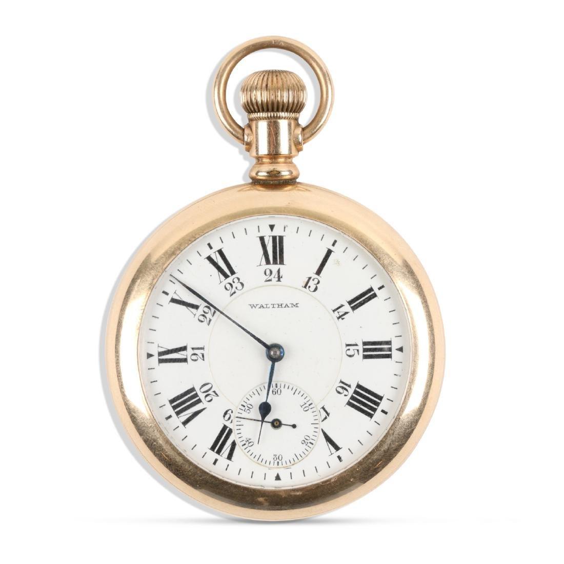 """Waltham, """"845"""" Railroad Pocket Watch"""