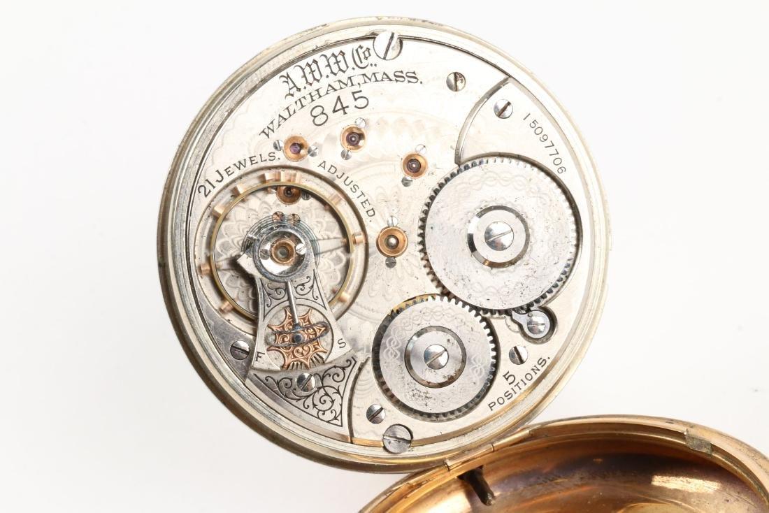 """Waltham, """"845"""" Railroad Pocket Watch - 6"""