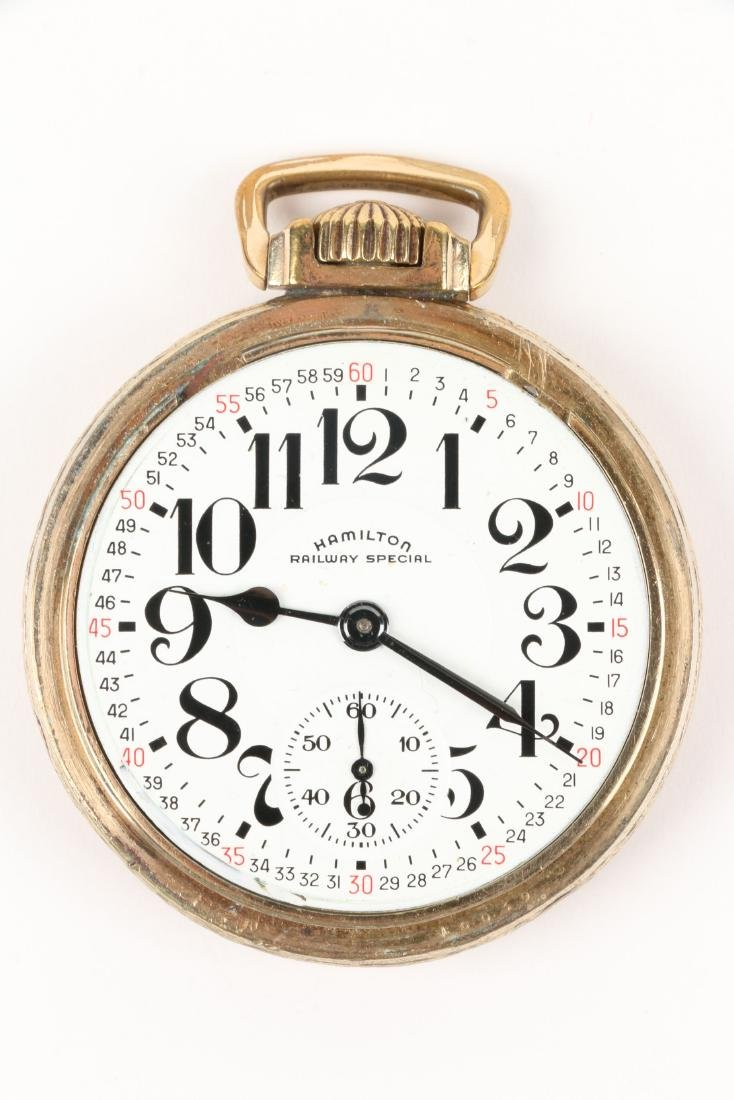 "Hamilton, ""992"" Railroad Pocket Watch - 4"