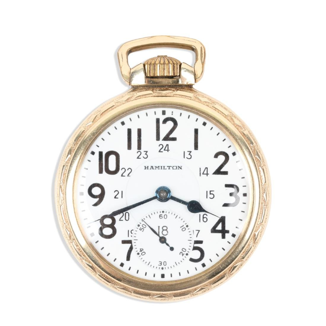 "Hamilton, ""992B"" Railroad Pocket Watch"