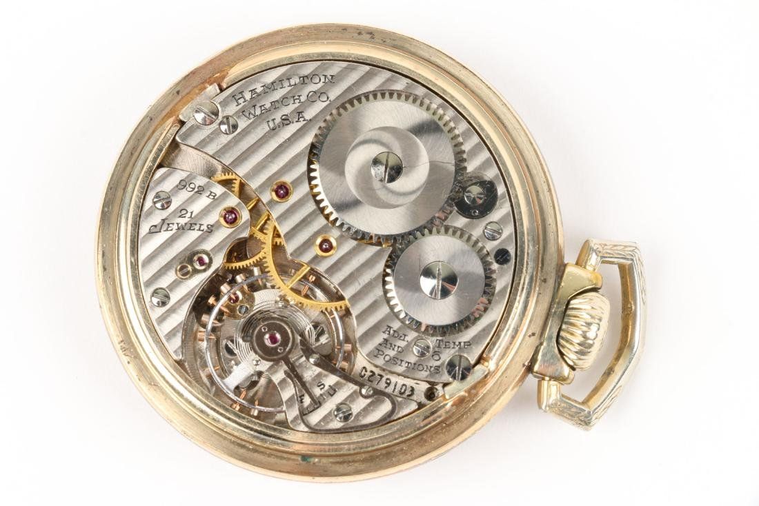 "Hamilton, ""992B"" Railroad Pocket Watch - 6"