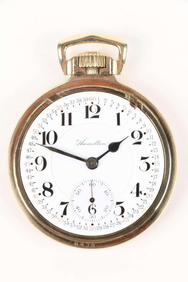"Hamilton, ""952"" Railroad Pocket Watch - 4"