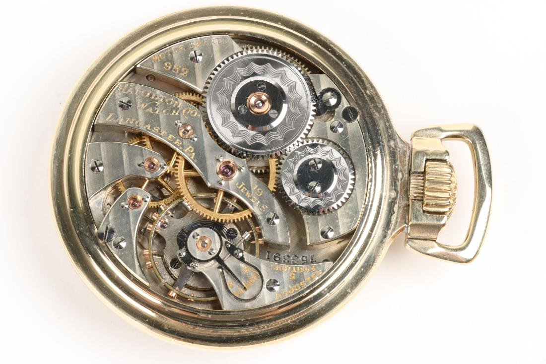 "Hamilton, ""952"" Railroad Pocket Watch - 6"