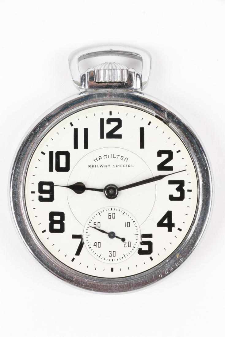 "Hamilton, ""992B"" Railroad Pocket Watch - 4"