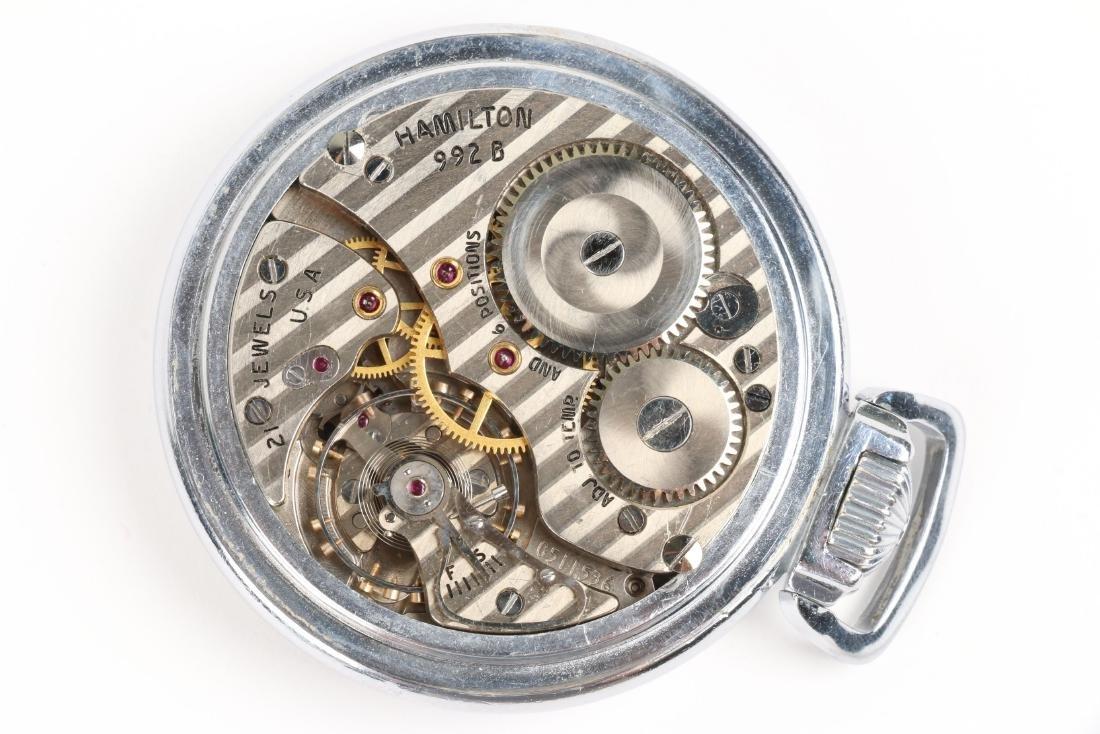 "Hamilton, ""992B"" Railroad Pocket Watch - 6"
