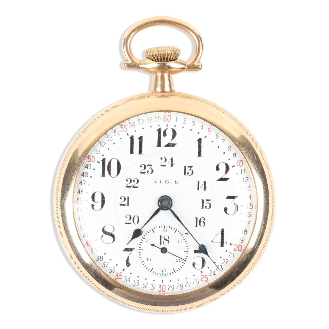 "Elgin, ""Veritas"" Railroad Pocket Watch"