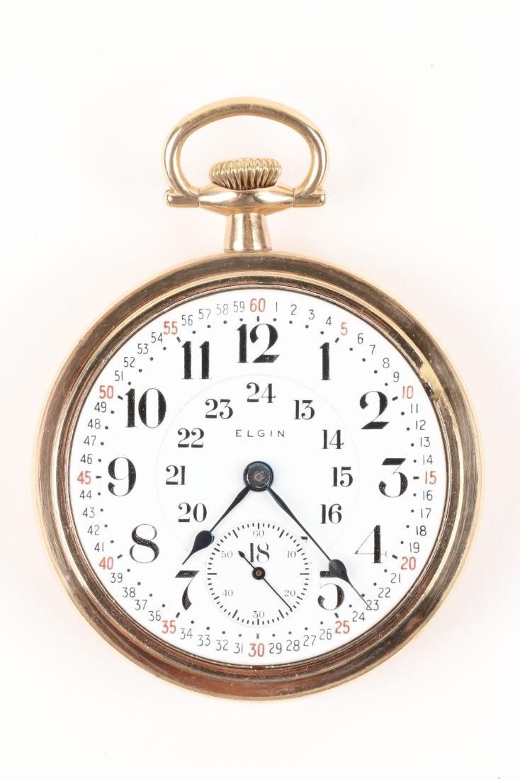 "Elgin, ""Veritas"" Railroad Pocket Watch - 4"