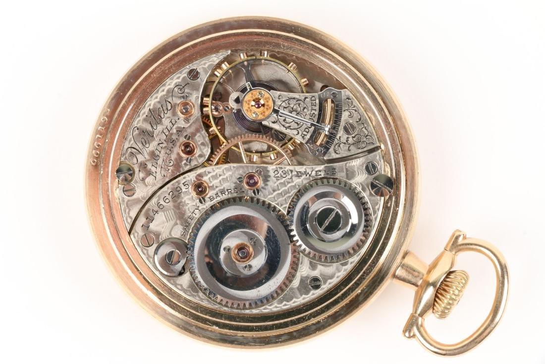 "Elgin, ""Veritas"" Railroad Pocket Watch - 6"