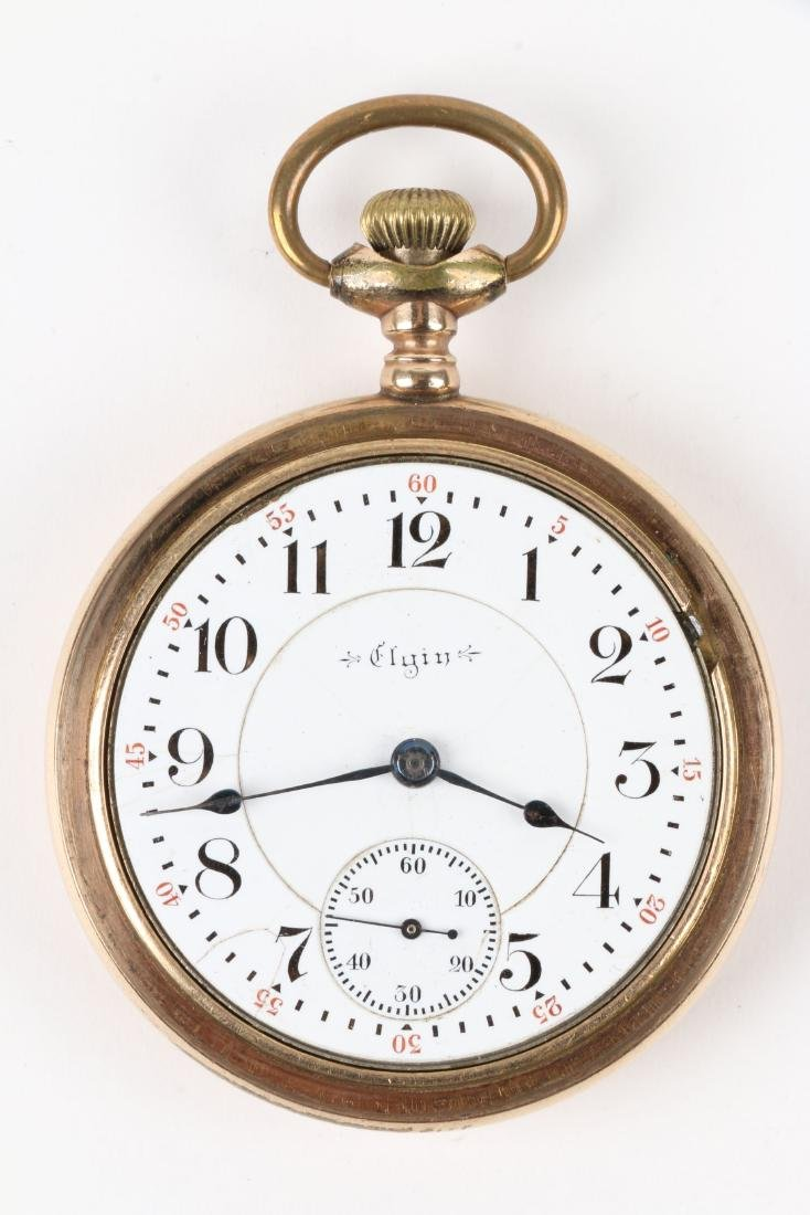 """Elgin, """"Father Time"""" Railroad Pocket Watch - 5"""