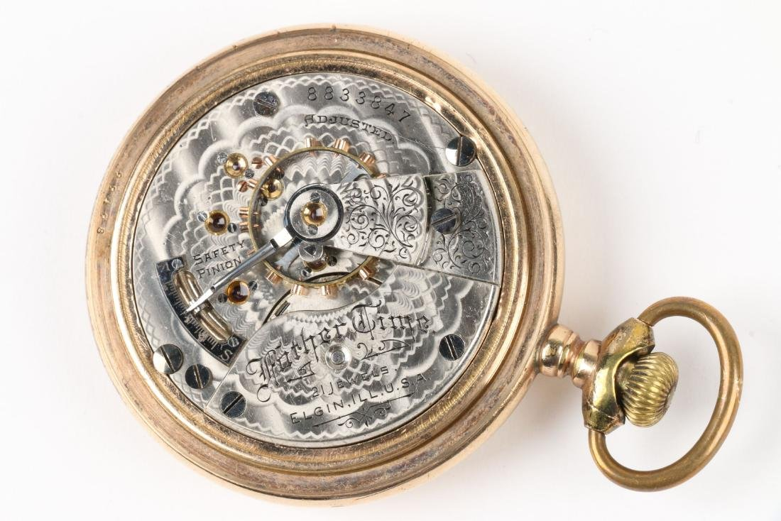 """Elgin, """"Father Time"""" Railroad Pocket Watch - 7"""