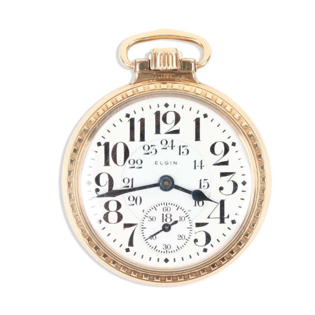 """Elgin, """"B.W Raymond"""" Pocket Watch"""