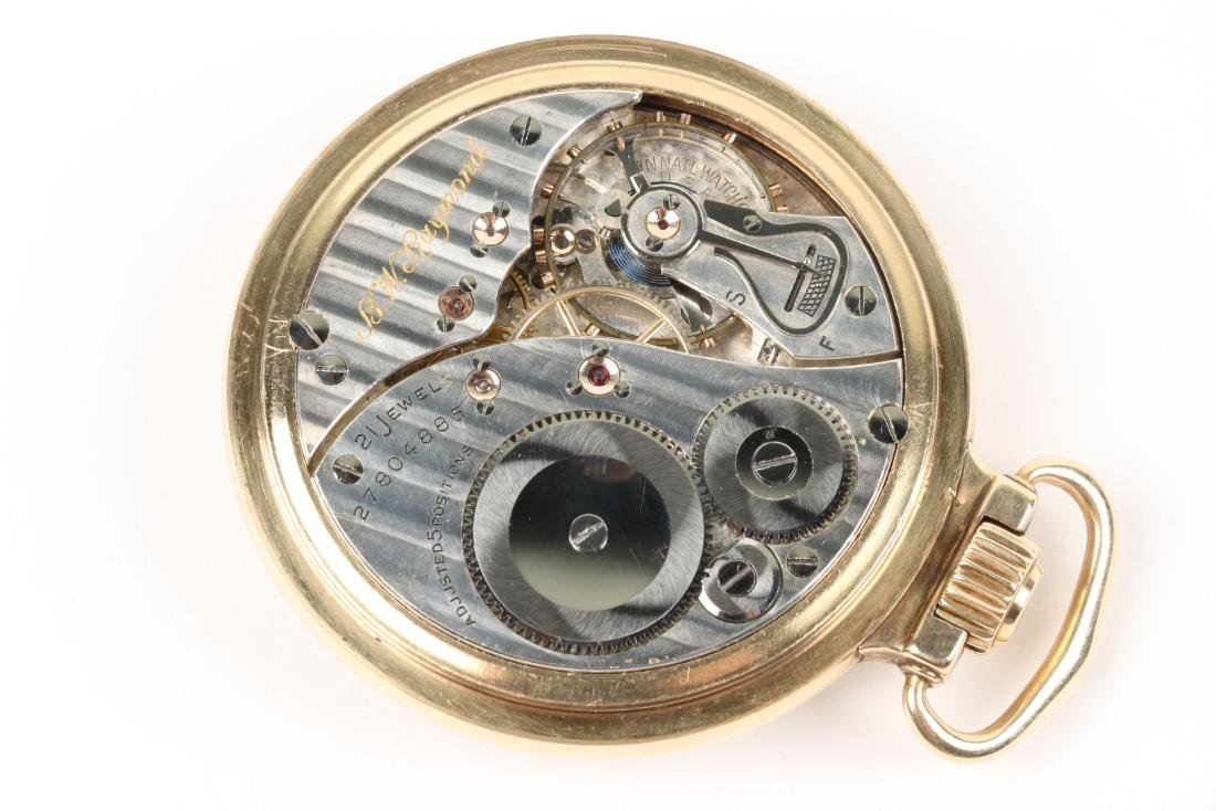 """Elgin, """"B.W Raymond"""" Pocket Watch - 6"""