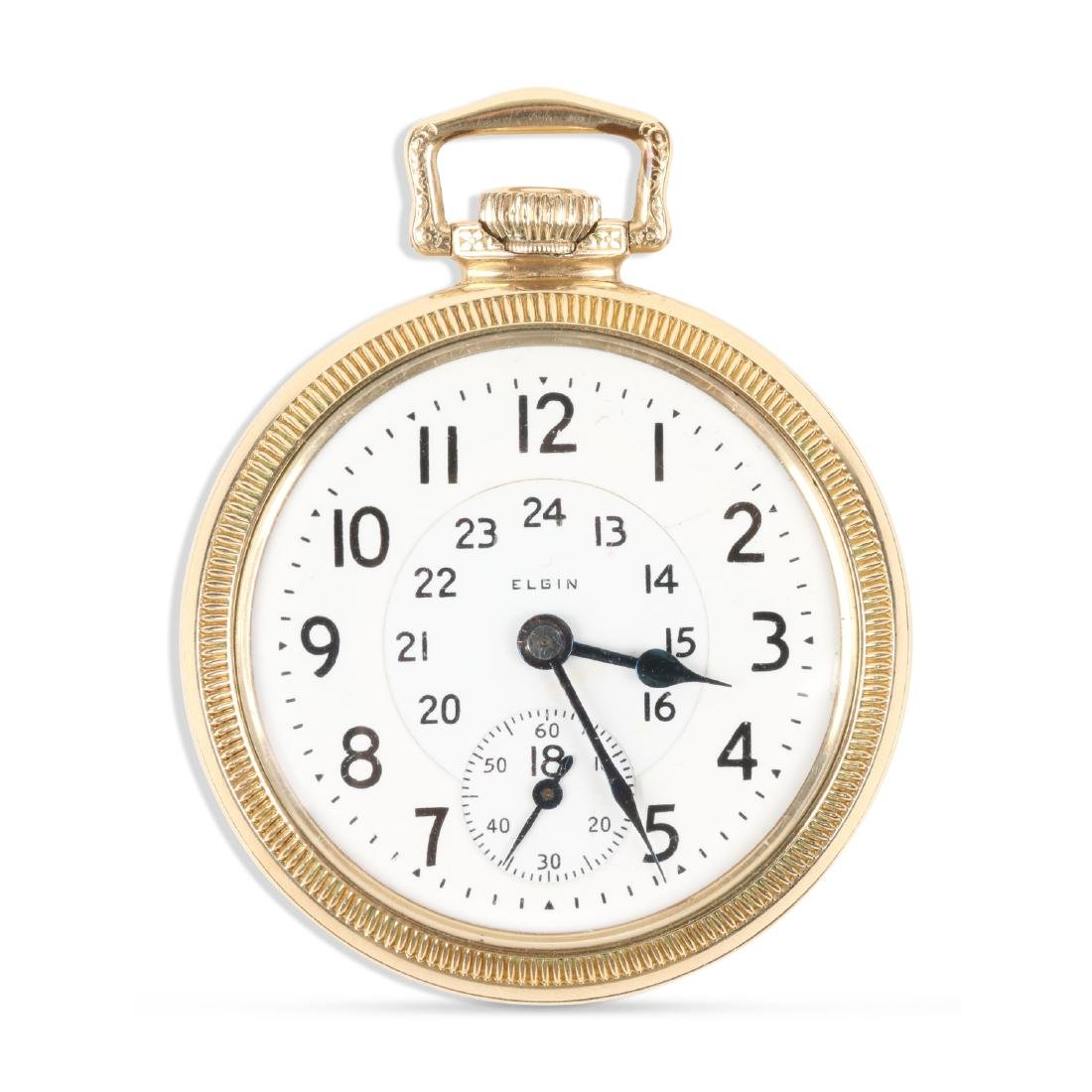 """Elgin, """"Father Time"""" Railroad Pocket Watch"""