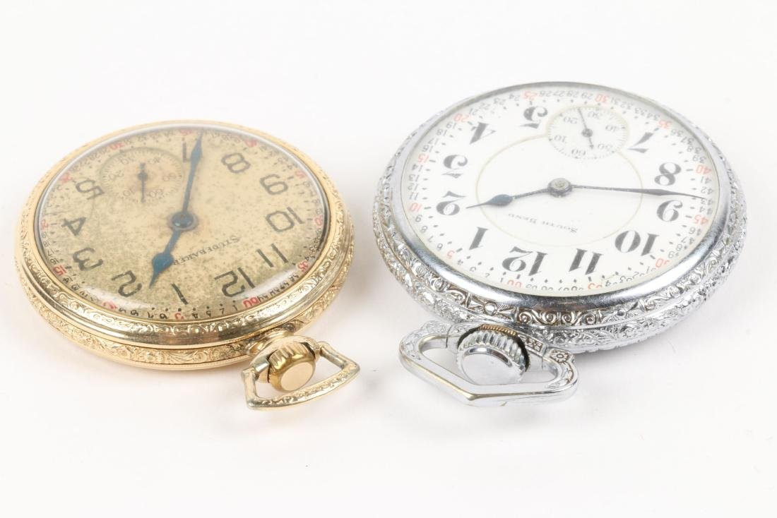 "South Bend, ""227"" Model & Studebaker Pocket Watches - 2"