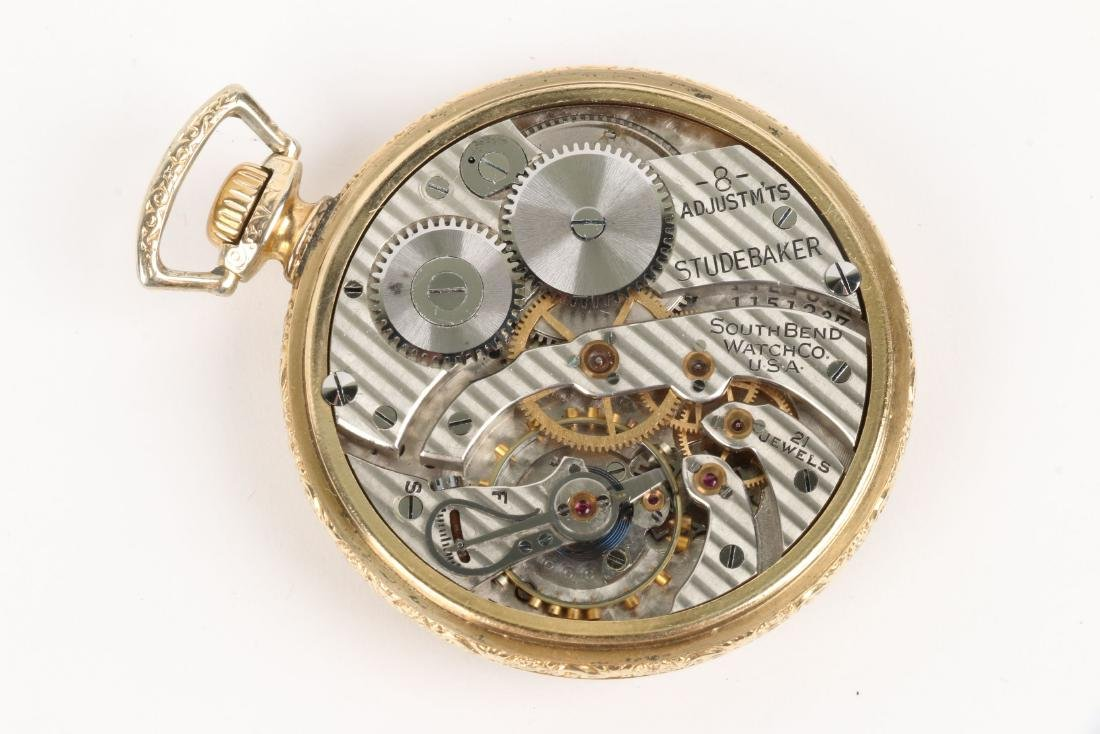 "South Bend, ""227"" Model & Studebaker Pocket Watches - 6"