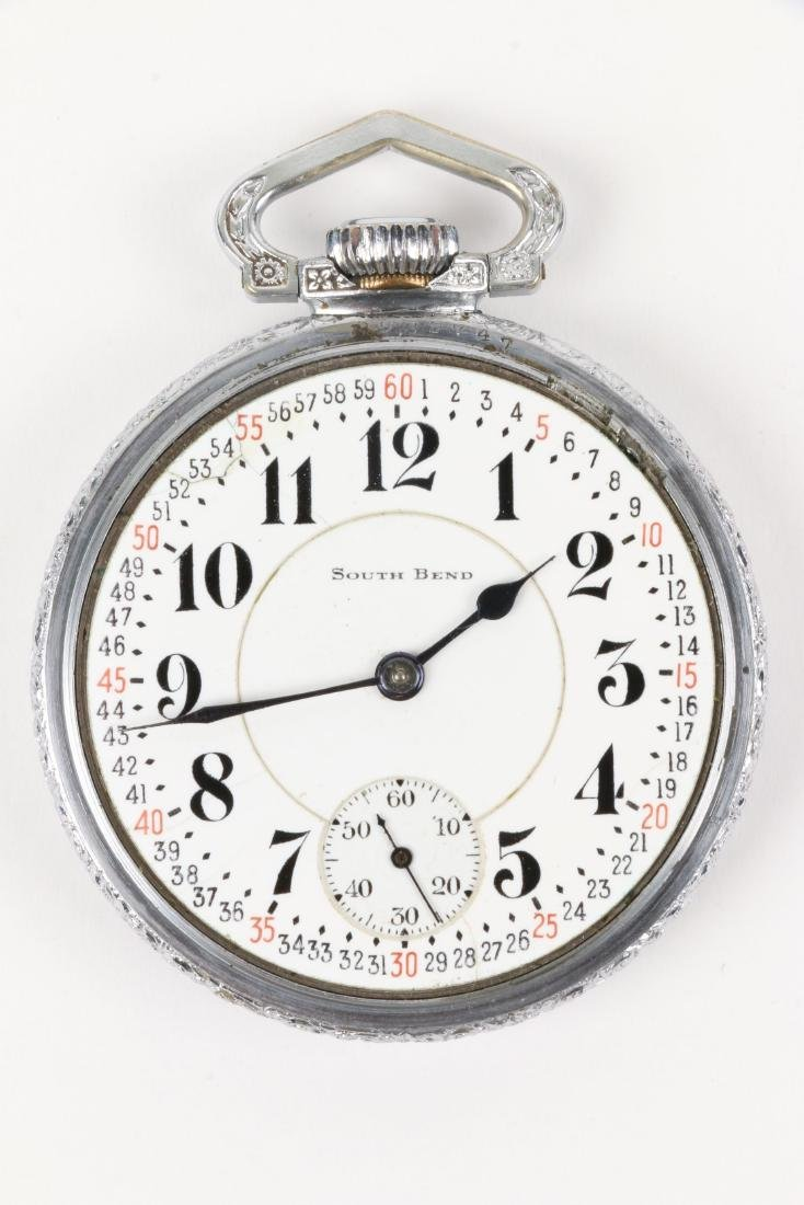 "South Bend, ""227"" Model & Studebaker Pocket Watches - 7"