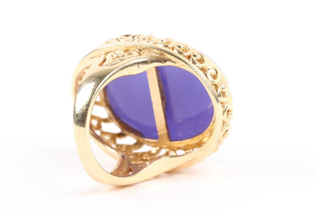A 14K Gold & Onyx Cameo Ring - 5