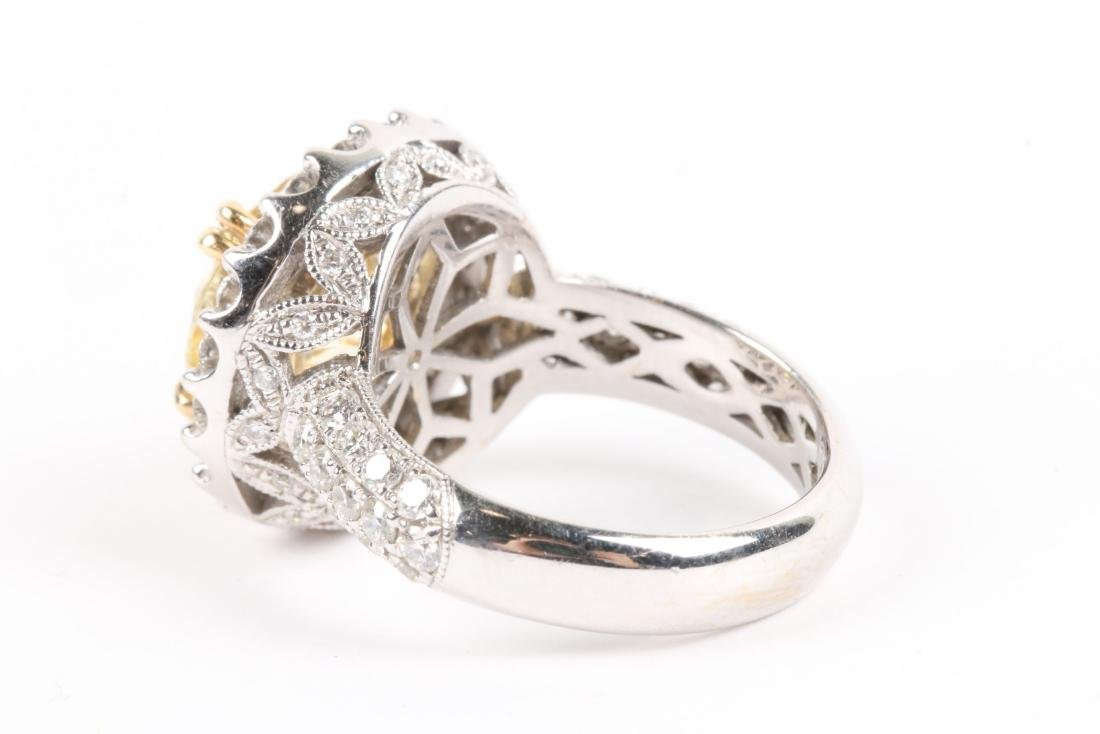 An 18K Gold, Diamond & Cubic Zirconia Ring - 5