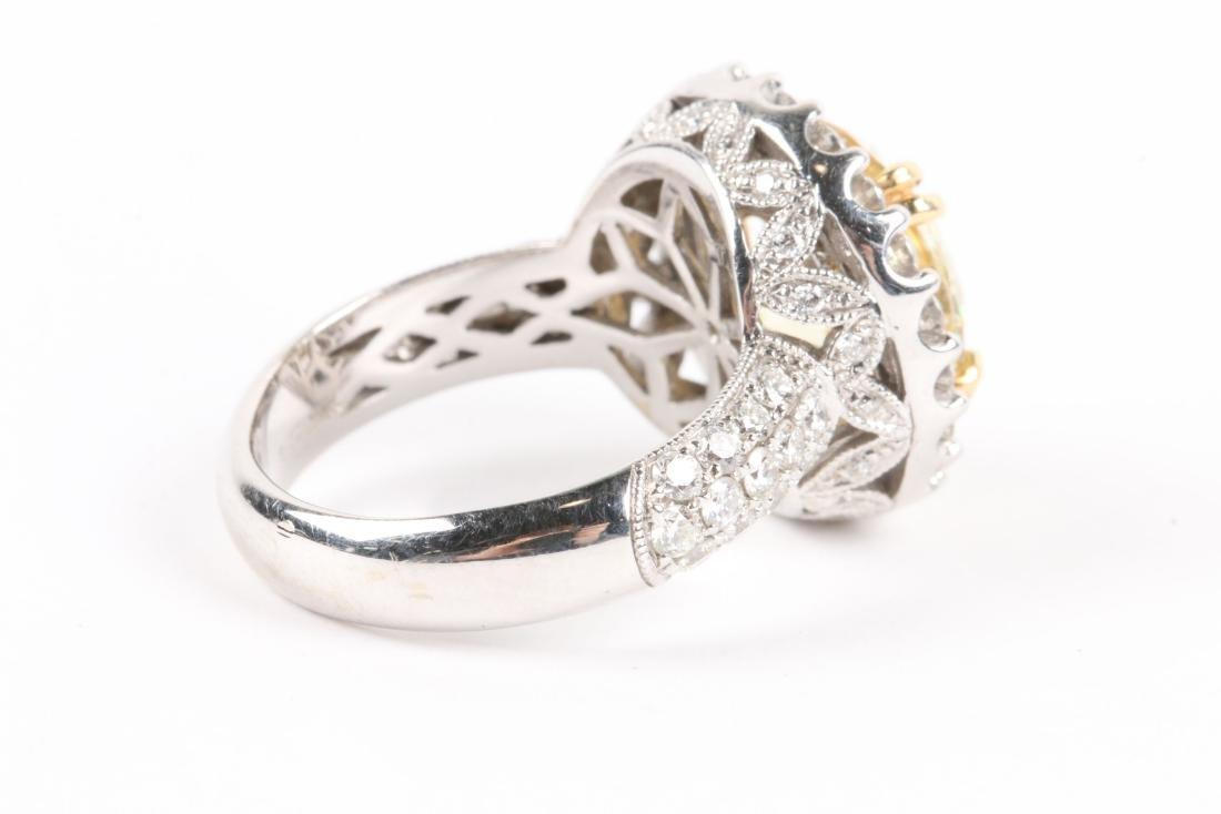 An 18K Gold, Diamond & Cubic Zirconia Ring - 6