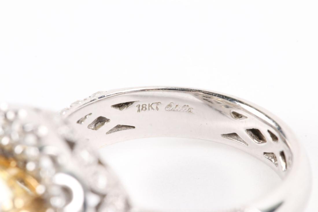 An 18K Gold, Diamond & Cubic Zirconia Ring - 7