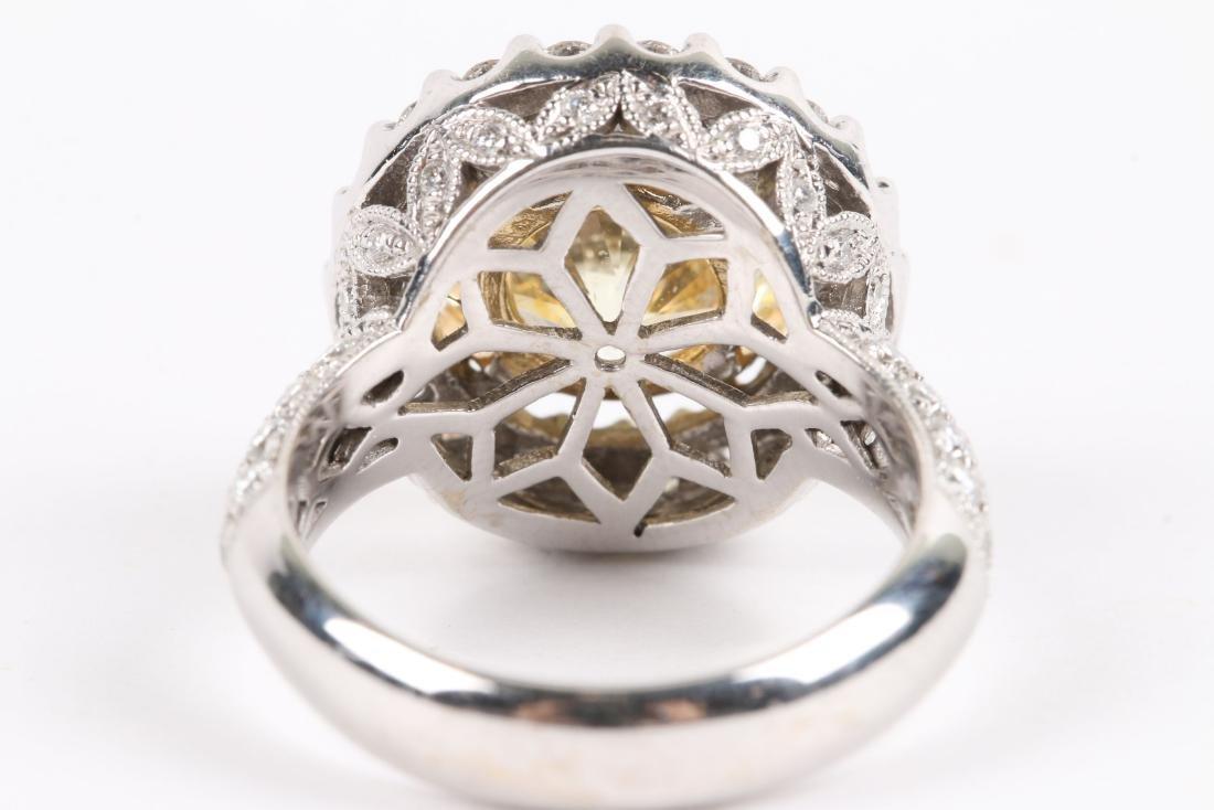 An 18K Gold, Diamond & Cubic Zirconia Ring - 9