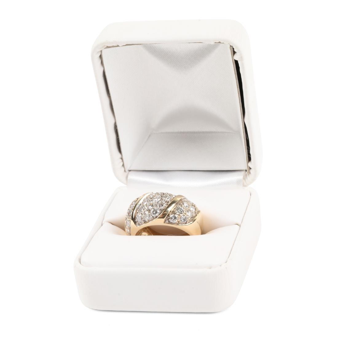 A 14K Yellow Gold, Diamond Ring