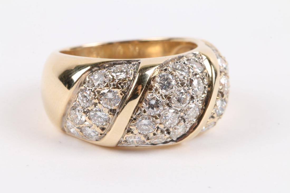A 14K Yellow Gold, Diamond Ring - 2