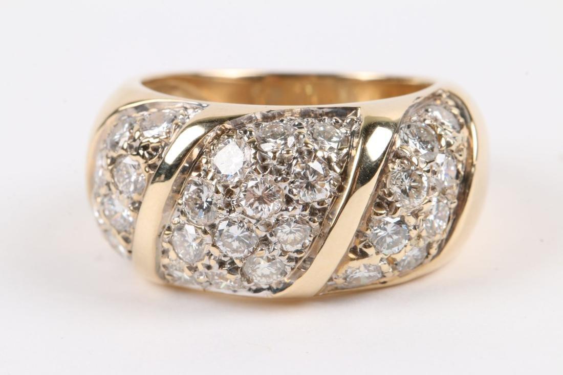 A 14K Yellow Gold, Diamond Ring - 3