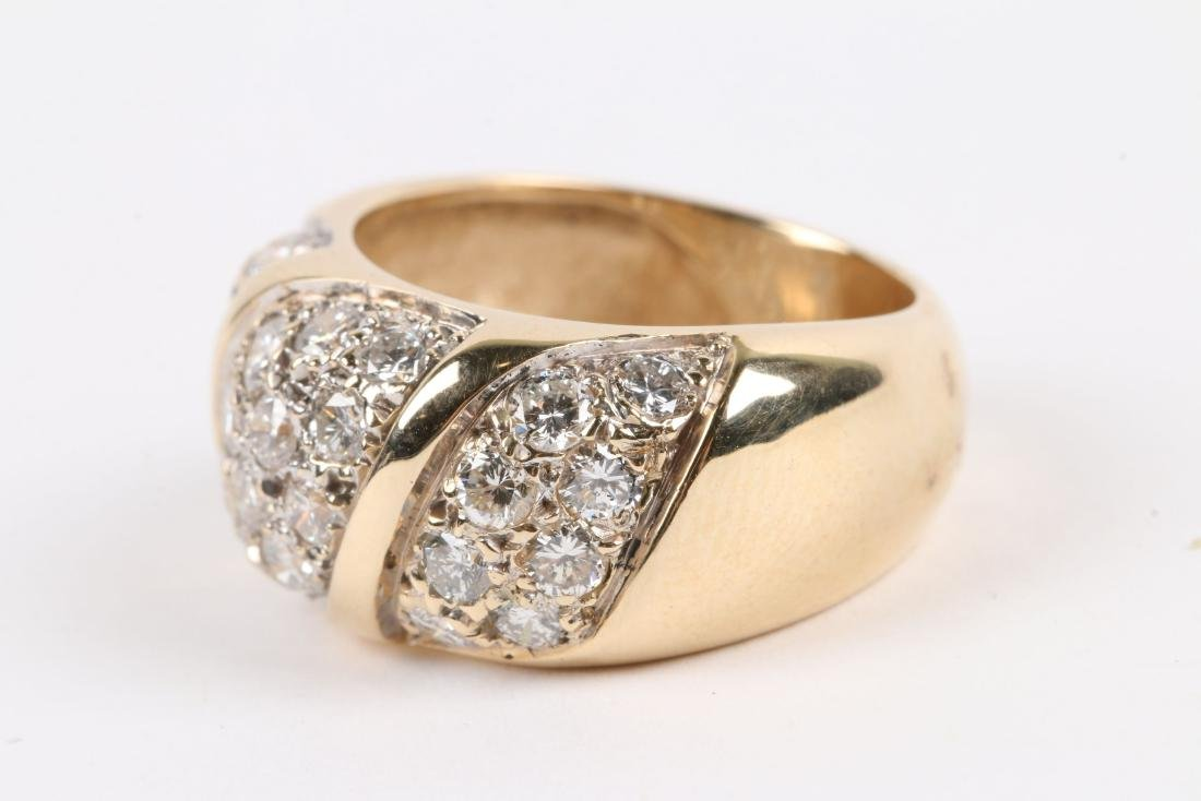 A 14K Yellow Gold, Diamond Ring - 4