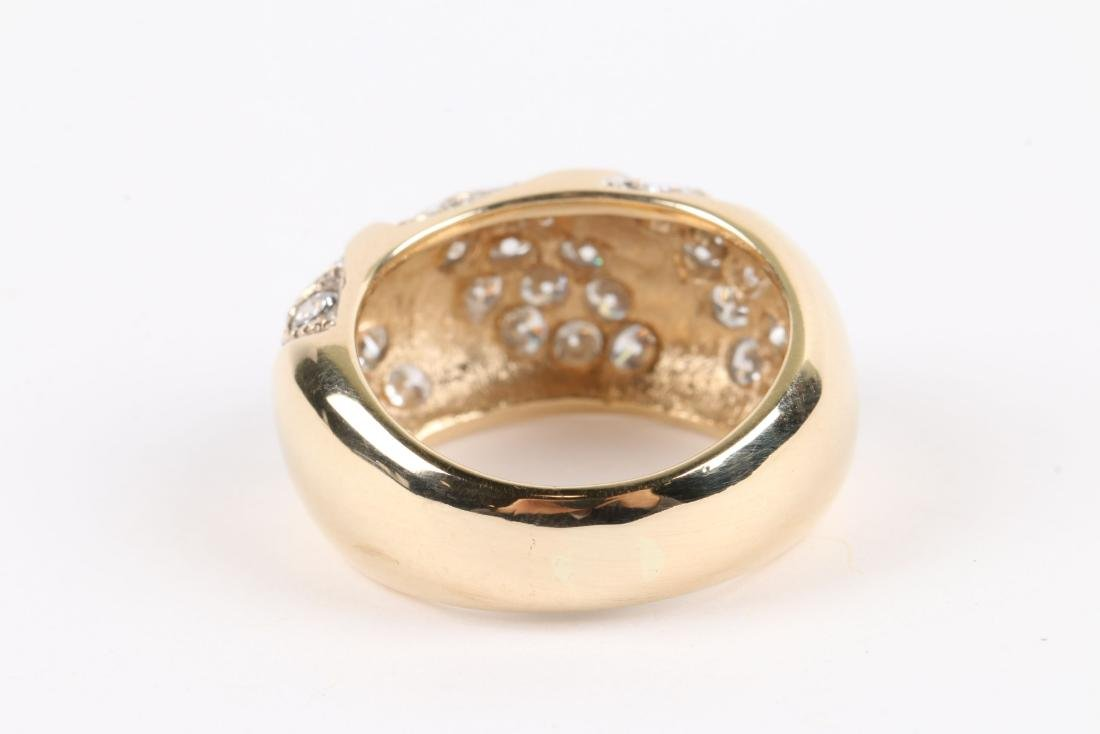 A 14K Yellow Gold, Diamond Ring - 5