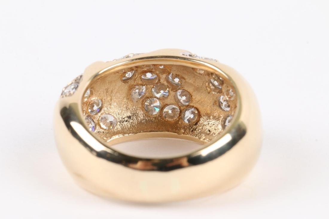 A 14K Yellow Gold, Diamond Ring - 6