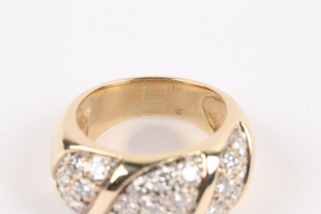 A 14K Yellow Gold, Diamond Ring - 7