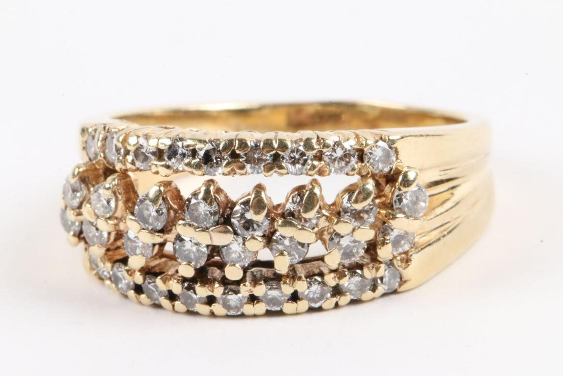 A Trio, 10K Gold & Diamond Rings - 6
