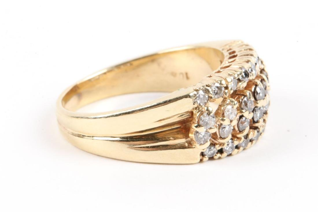 A Trio, 10K Gold & Diamond Rings - 7
