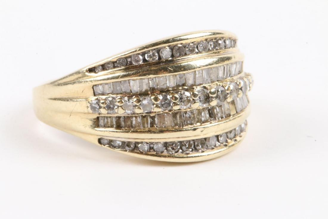A Pair, 10K Gold & Diamond Rings - 2