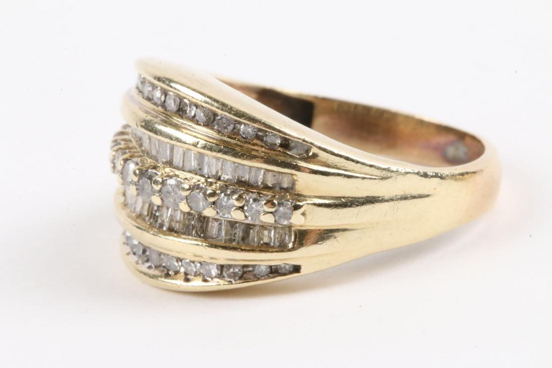 A Pair, 10K Gold & Diamond Rings - 3