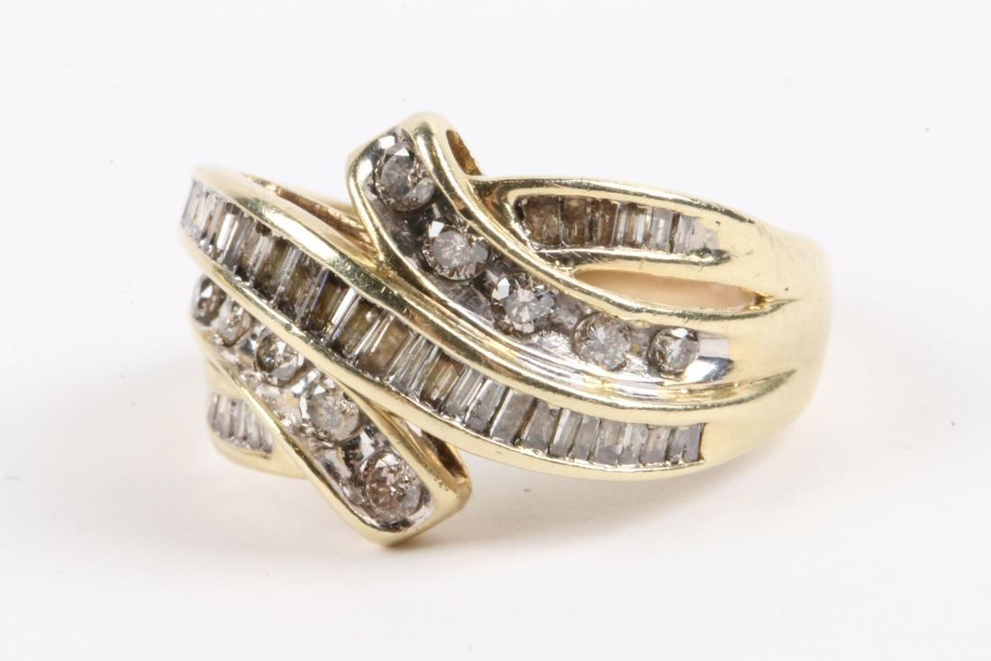 A Pair, 10K Gold & Diamond Rings - 4
